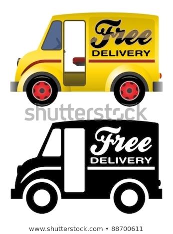 Camion di consegna retro illustrazione camion set Foto d'archivio © patrimonio