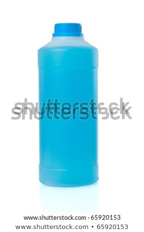 Blue Liquid In Trasparent Plastic Bottle Foto stock © homydesign