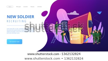 Compulsory military service concept landing page. Stock photo © RAStudio