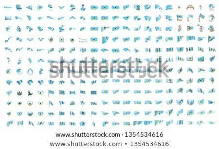 very big collection of vector flags of the Saint Lucia Stock photo © butenkow