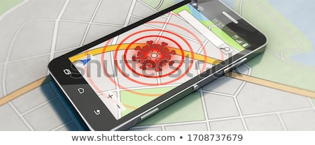 Smartphone Corona Virus Warning App Header Stock photo © limbi007