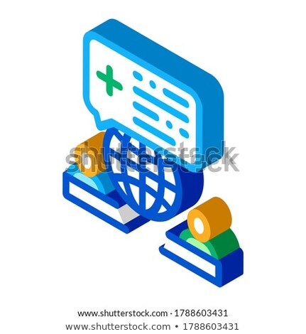 World Medical Aid isometric icon vector illustration Stock photo © pikepicture