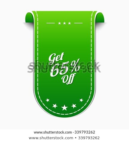 Get 65 Precent Off Green Vector Icon Stock photo © rizwanali3d