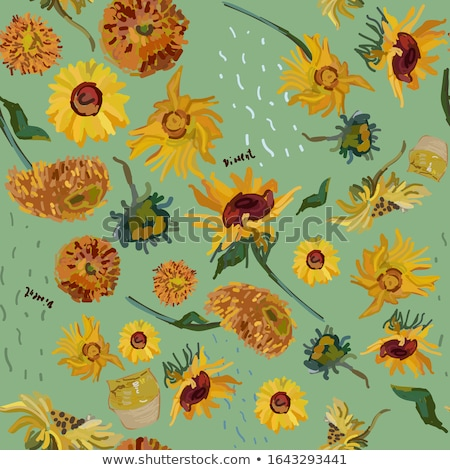 abstract orange based floral vector illustration Stock photo © pathakdesigner