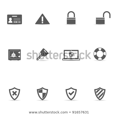 Unlock Yellow Vector Icon Design Stock photo © rizwanali3d