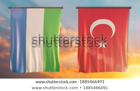 turkey and sierra leone flags stock photo © istanbul2009