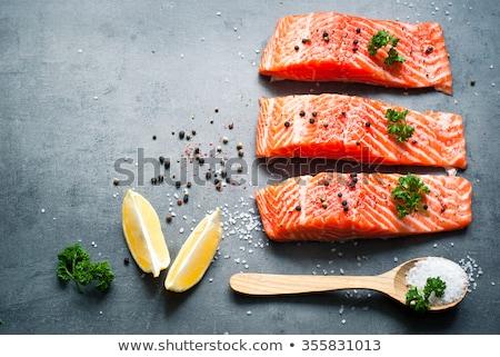 Fresh fish fillets Stock photo © Digifoodstock