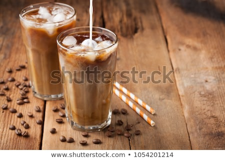 ストックフォト: 冷たい · コーヒー · ドリンク · カラフル · 孤立した · ぼけ味