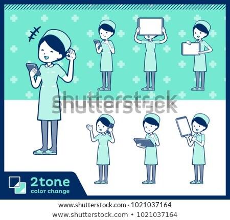 2tone type Nurse wear women_set 06 Stock photo © toyotoyo