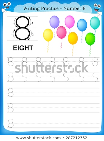 Number eight writing guide Stock photo © colematt