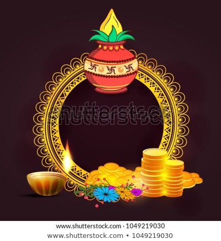 happy dhanteras sale banner with decorative elements Stock photo © SArts