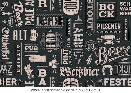 Oktoberfest beber alimentos blanco negro cerveza Foto stock © barsrsind