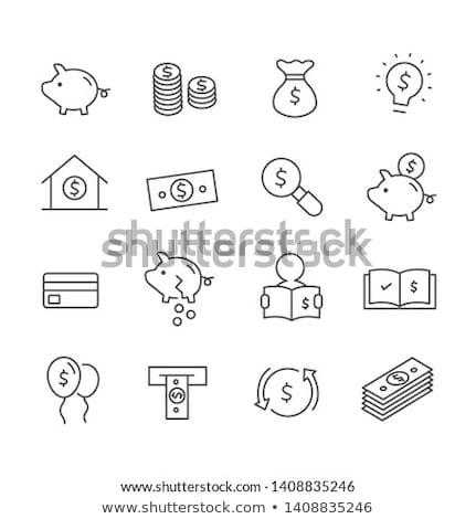 Ballon paiement icône vecteur illustration Photo stock © pikepicture