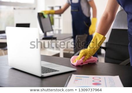 Comerciales oficina limpieza servicio profesional Foto stock © AndreyPopov