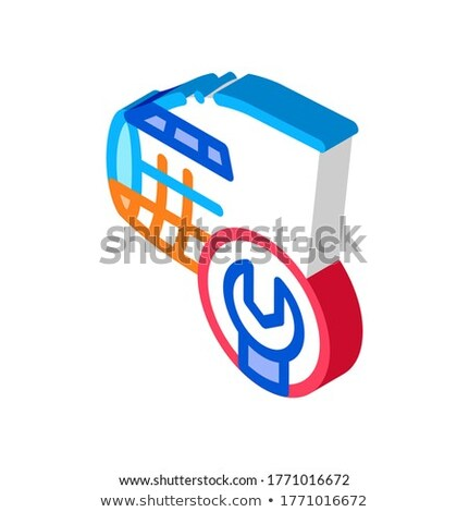 Plane Fix Wrench isometric icon vector illustration Stock photo © pikepicture
