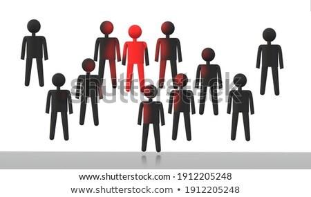 Pessoa 3d ícone equipe 3d render ilustração Foto stock © dacasdo
