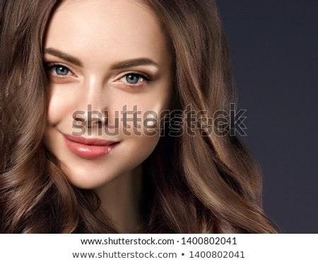 luxury closeup young girl portrait Stock photo © fotoduki