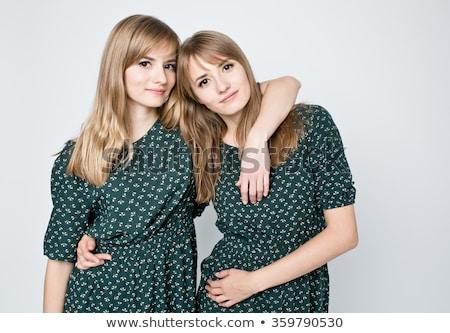 güzel · kadın · ikizler · portre · iki · genç - stok fotoğraf © iko