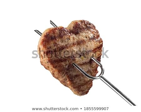 Sosis pişirme barbekü gıda yangın yaz Stok fotoğraf © neillangan