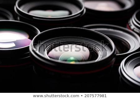 modern camera lenses with reflections low key image stock photo © lightpoet