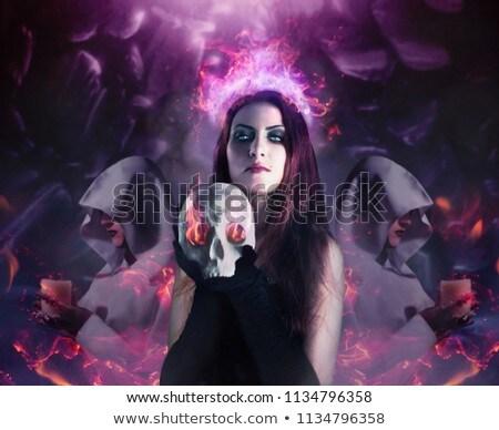 セクシー 悪魔 少女 笑みを浮かべて ハロウィン 赤 ストックフォト © ClipArtMascots