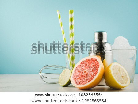 cocktail with alcohol and fruits Stock photo © M-studio