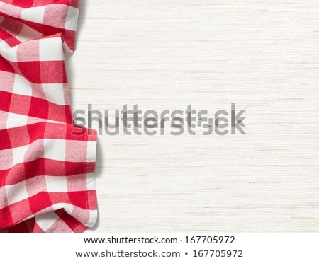 checked red and white napkin Stock photo © Digifoodstock