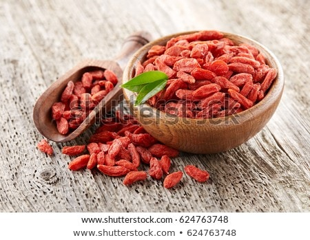 Stockfoto: Gedroogd · bessen · lepel · gezonde · witte · voedsel
