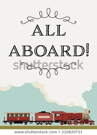 Equitación rápido ferrocarril transporte personas trabajo Foto stock © robuart
