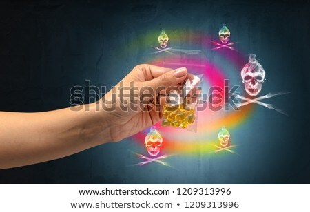 Giving drugs in plastic bag Stock photo © ra2studio