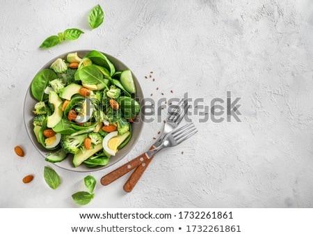 ストックフォト: Homemade eggs spinach salad
