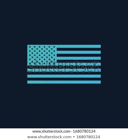 Gradient American flag. Stock Vector illustration isolated on white background. Stock photo © kyryloff