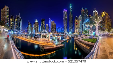 Dubai Marina in a summer day Stock photo © bloodua