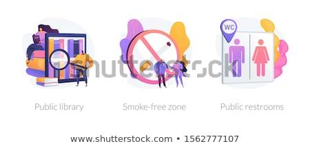 Smoke free zone vector concept metaphor Stock photo © RAStudio