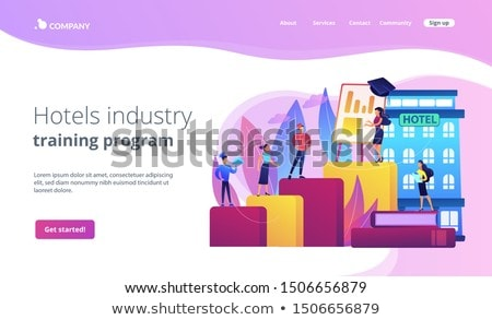 Hospitality courses concept landing page Stock photo © RAStudio