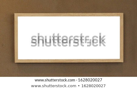 wooden horizontal picture frame Stock photo © experimental