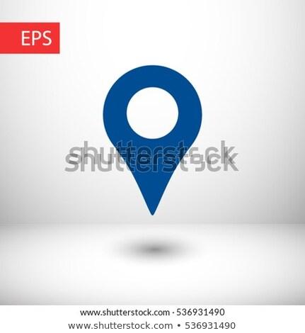 Térkép jelző egy üzlet internet háló Stock fotó © Ecelop