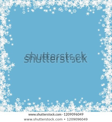 Blanche bleu flocon de neige grunge frontière flocons de neige Photo stock © PokerMan