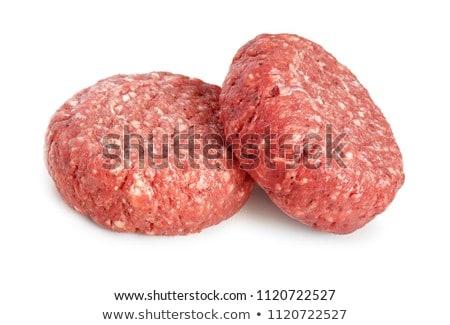 two raw hamburger patties Stock photo © Digifoodstock