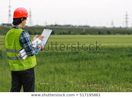 planları · alan · iş · adam · inşaat · işadamı - stok fotoğraf © IS2