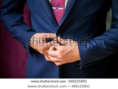 Jonge elegante man smoking witte glimlach Stockfoto © feedough