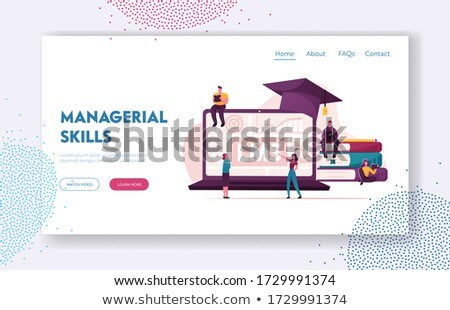 Learning management system concept landing page. Stock photo © RAStudio