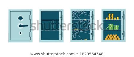 Nyitva fal széf bankjegyek rejtett bankjegy Stock fotó © albund