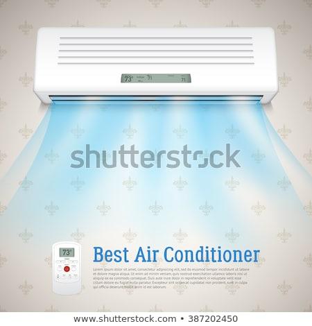 O melhor ar condicionado realista frio ar símbolos Foto stock © netkov1
