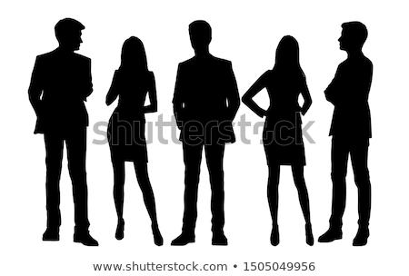 Female silhouette on white background Stock photo © bluering