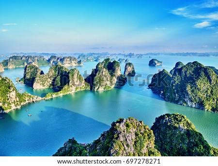 Cave in Halon bay, Vietnam Stock photo © bloodua