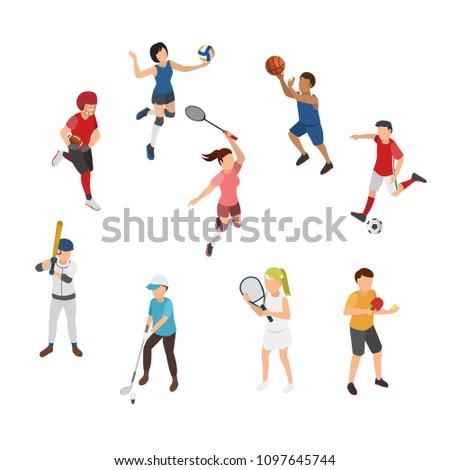 バレーボール スポーツ ゲーム アイソメトリック ベクトル ストックフォト © pikepicture