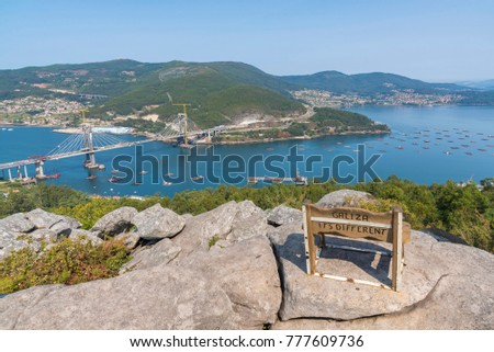 atlantic blue bench views stock photo © morrbyte