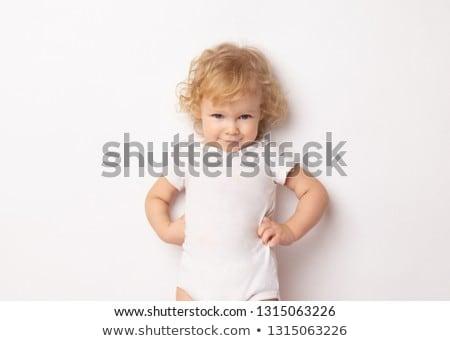 Kind handen heupen permanente jeans Stockfoto © lovleah