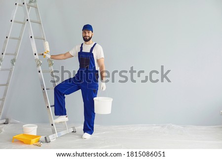 craftsman painter on a ladder Stock photo © photography33